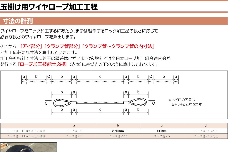 ワイヤロープ加工工程