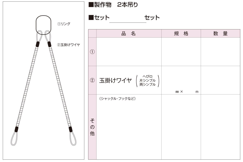 ワイヤロープ製作加工シート